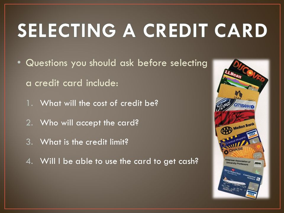 Questions to Ask When Choosing a Credit Card - Performance Forum